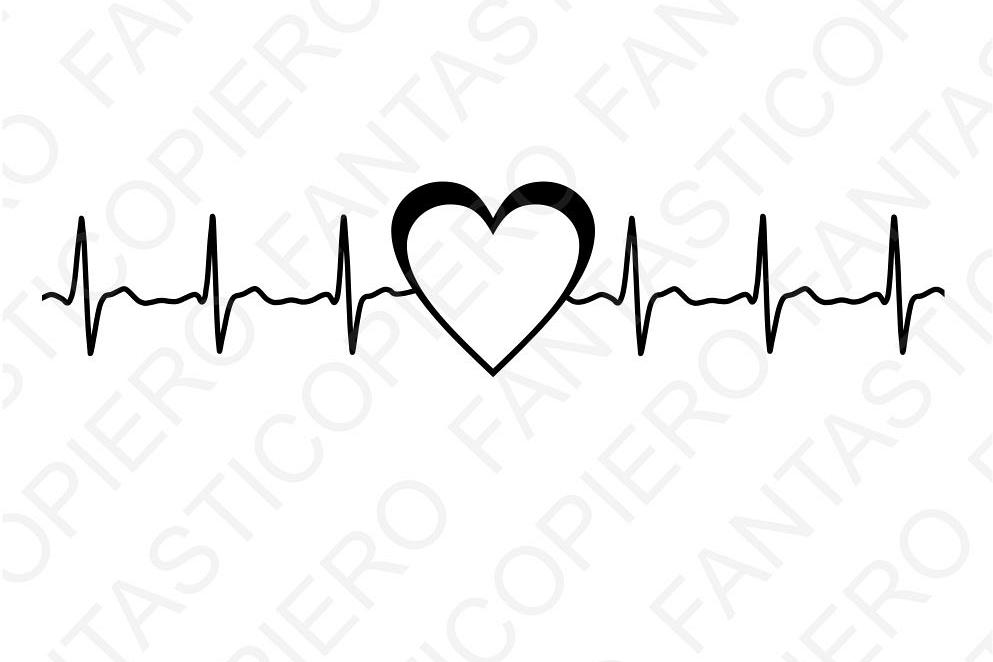 Heartbeat clipart. Cardio heart svg files