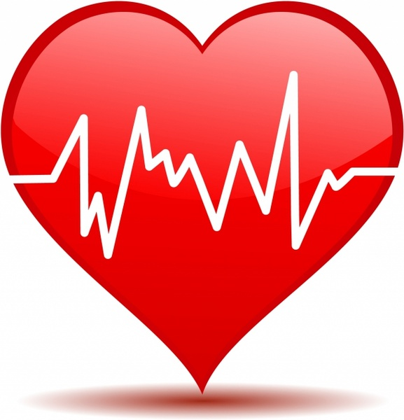 Free vector in adobe. Heartbeat clipart