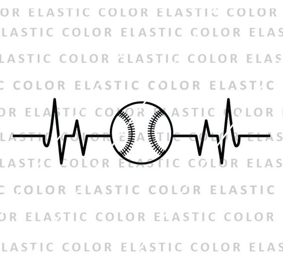 Svg ekg design cricut. Heartbeat clipart baseball