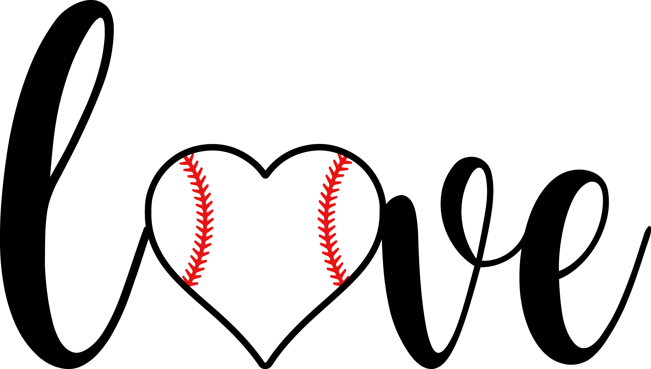When you think it. Heartbeat clipart baseball
