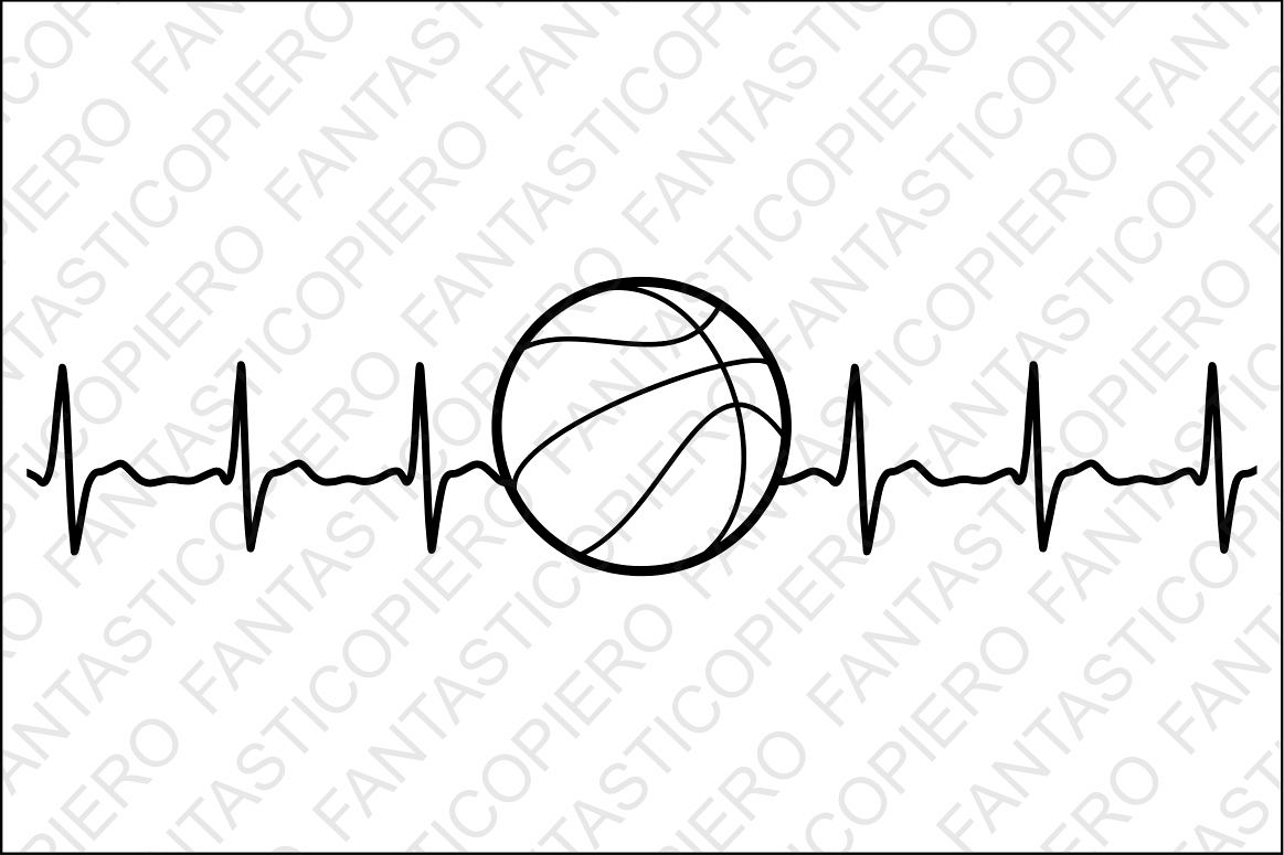 Cardio svg files for. Heartbeat clipart basketball