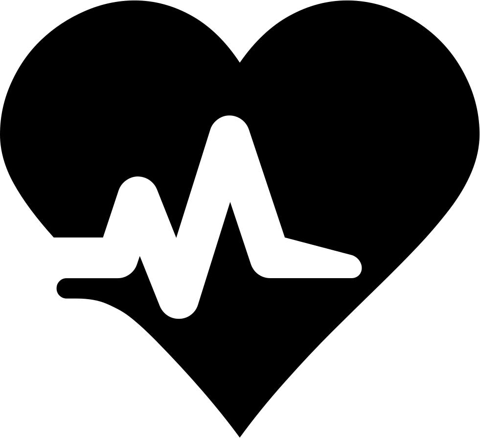 Heartbeat clipart bradycardia. Svg png icon free