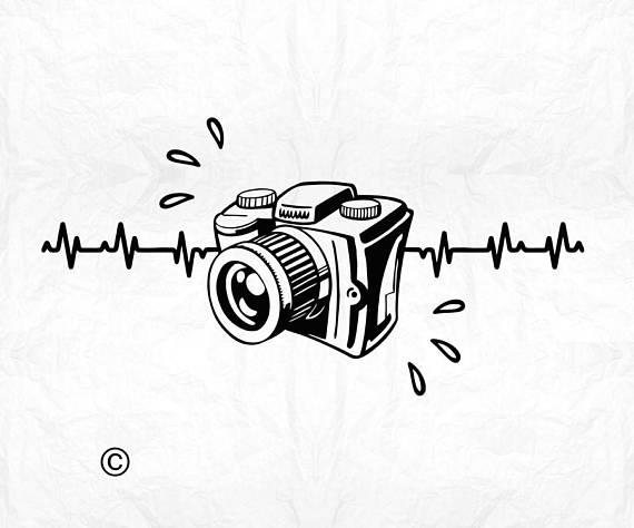 Heartbeat clipart camera. Love ekg svg photography