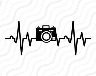 Svg etsy . Heartbeat clipart camera
