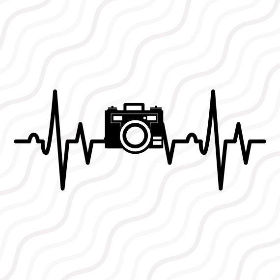 Svg cut table . Heartbeat clipart camera