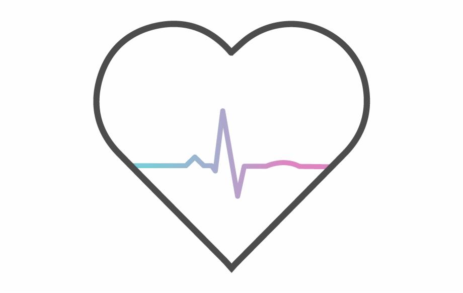 Heartbeat clipart cardiac rhythm. Heart pngtube