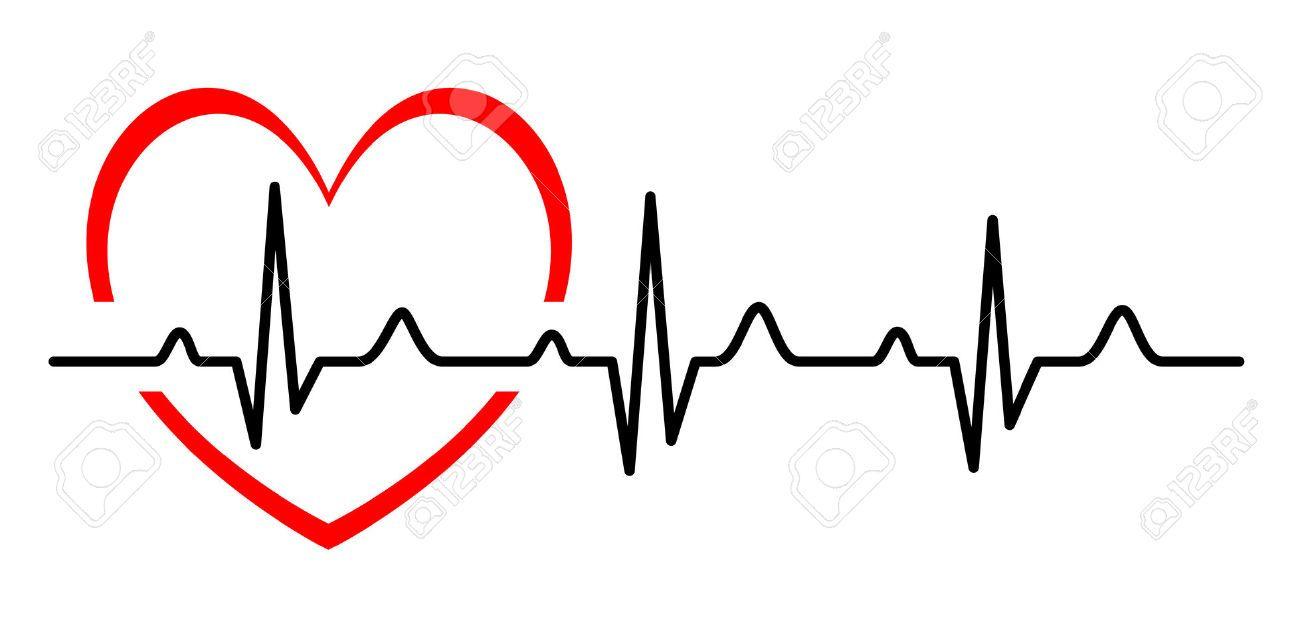 Heartbeat clipart cardio heart. Stock vector idei tatuaje