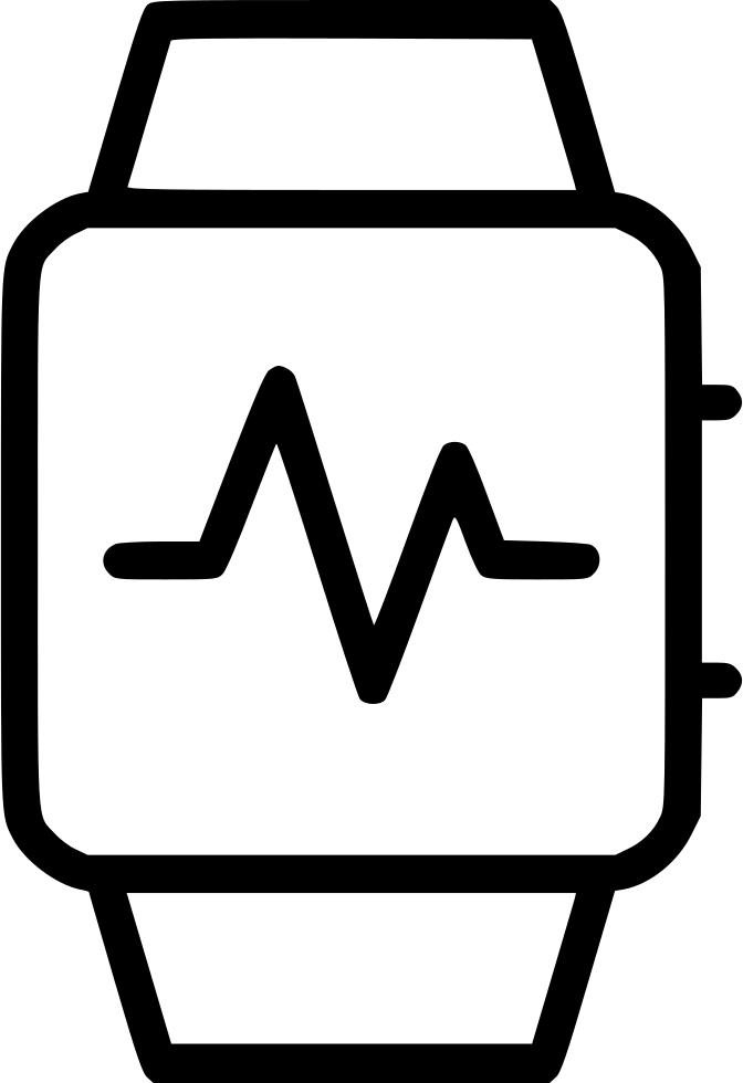 Watch activity wrist monitor. Heartbeat clipart cardio heart