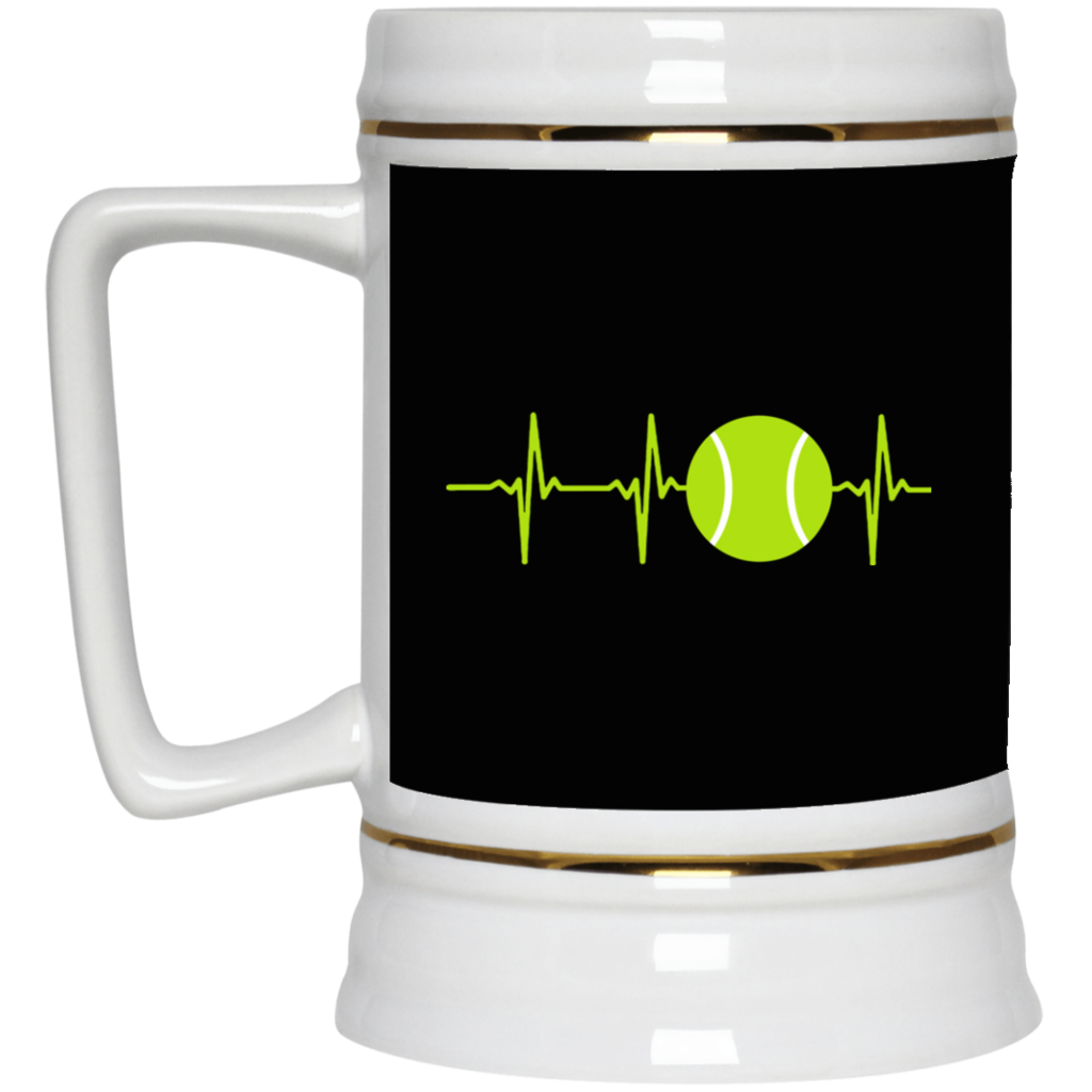 Tennis i love mug. Heartbeat clipart coffee