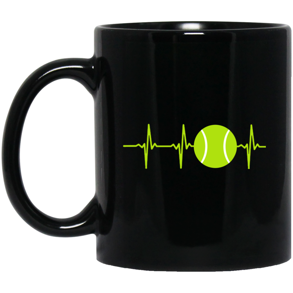 Heartbeat clipart coffee. Tennis i love mug