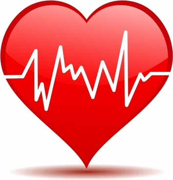 Free vector download . Heartbeat clipart cute