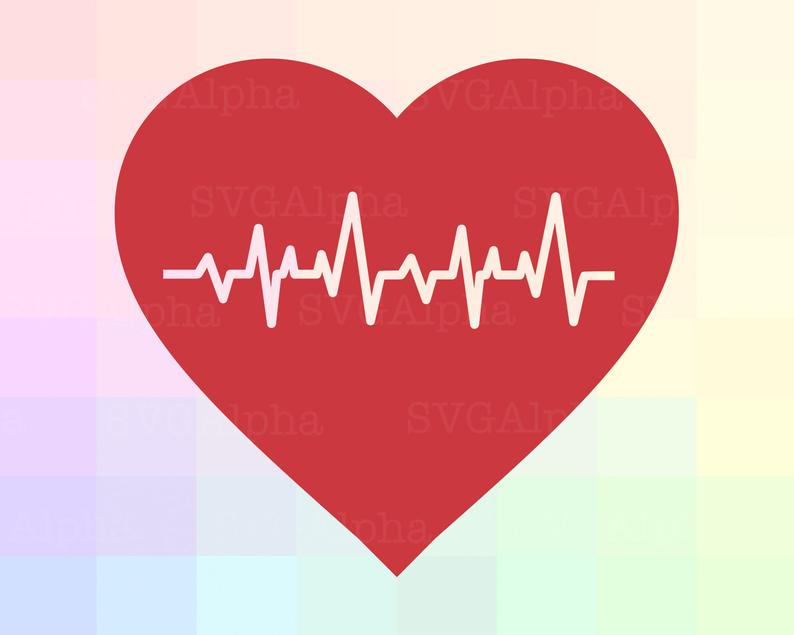 Beating heart svg file. Heartbeat clipart damage