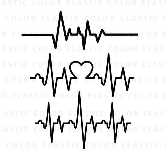Svg ekg line cardiogram. Heartbeat clipart damage