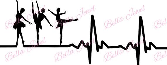 Heartbeat clipart dance. Ballet dancer svg my