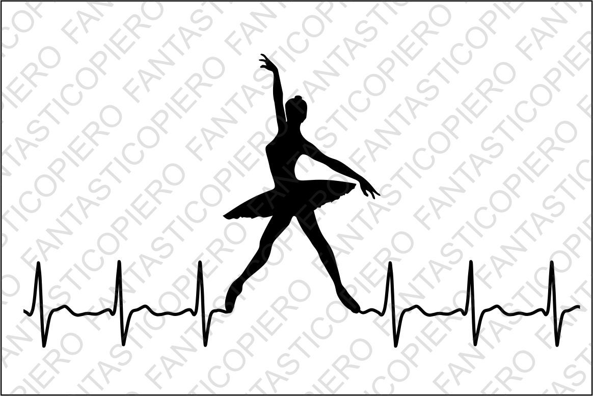 Cardio modern dancers svg. Heartbeat clipart dance