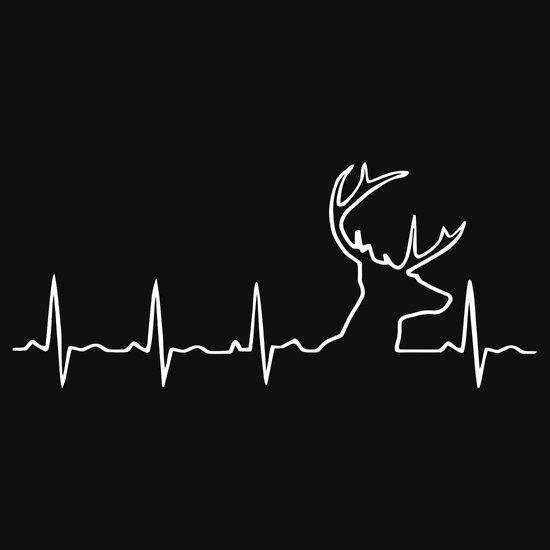 Hunting limited silouhette . Heartbeat clipart deer