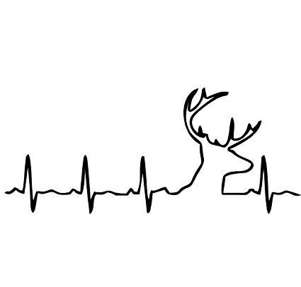 Amazon com buckbeat decal. Heartbeat clipart deer