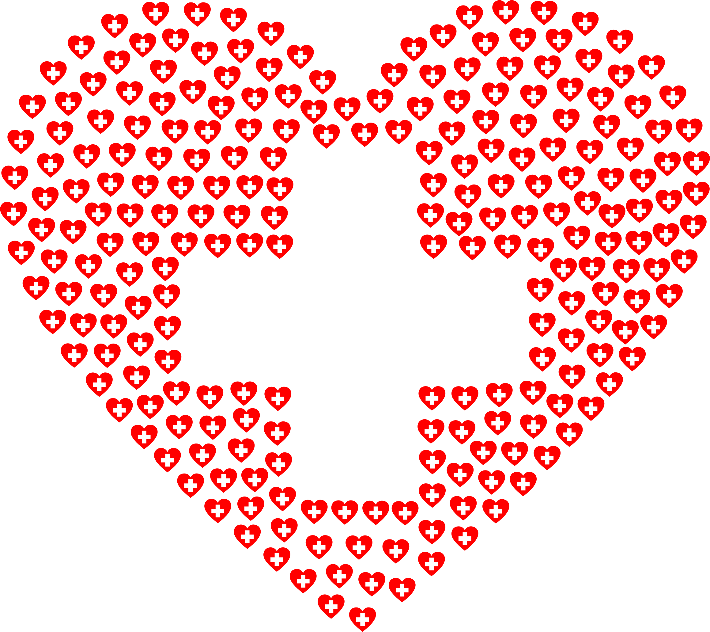 Heartbeat clipart ekg. First aid heart fractal