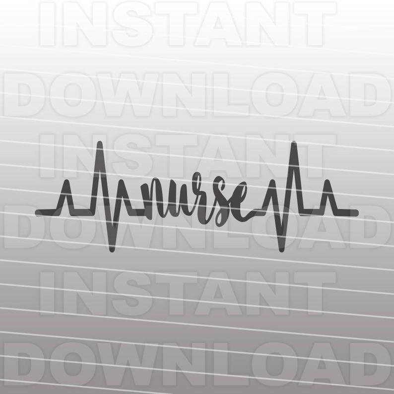 Heartbeat clipart ekg strip. Pulse nurse svg file