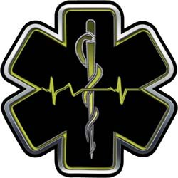 Heartbeat clipart emt. Amazon com yellow ems