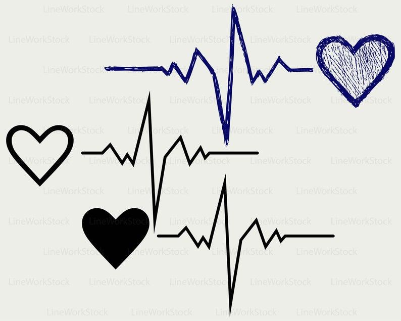 Heartbeat clipart file. Svg silhouette cricut cut