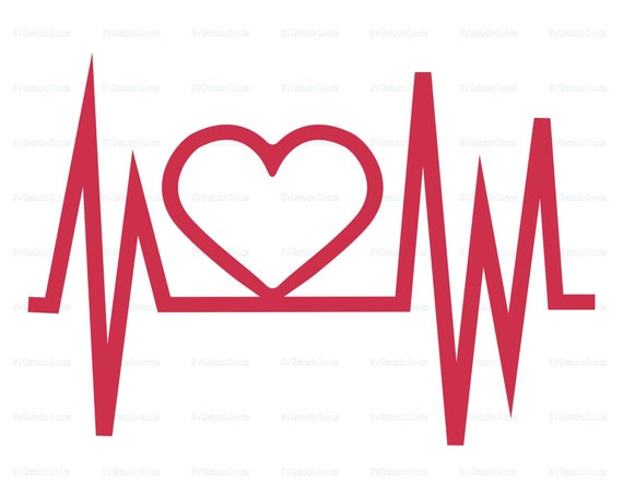 Svg eps dxf png. Heartbeat clipart file