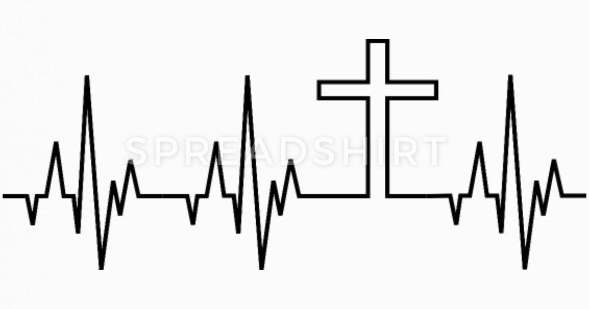 Cross church bible religion. Heartbeat clipart god
