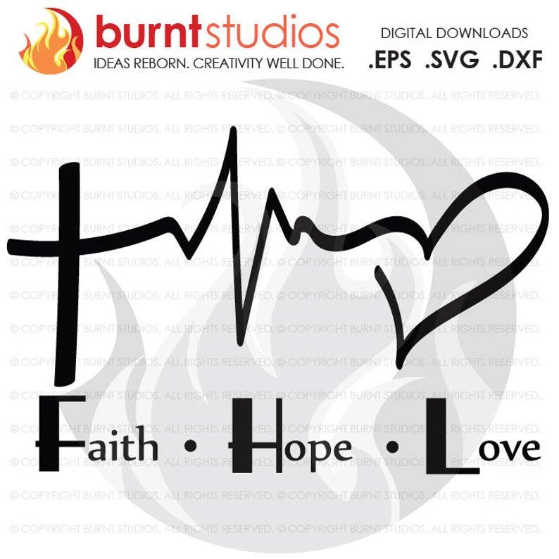Heartbeat clipart god. Digital file faith love