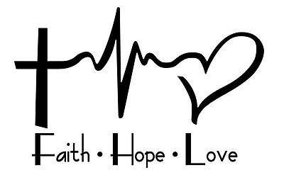 Heartbeat clipart god. Faith hope love cross