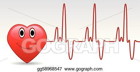 Heartbeat clipart happy. Vector art heart and