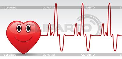 Stock photos and vektor. Heartbeat clipart happy