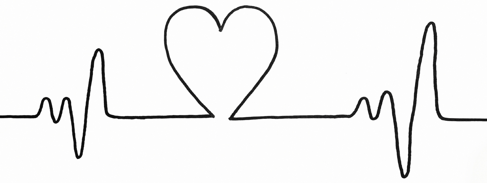 Heartbeat clipart heart drawing. Collection of free download