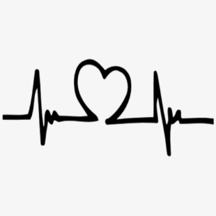 Drawing pulse clip art. Heartbeat clipart heart middle