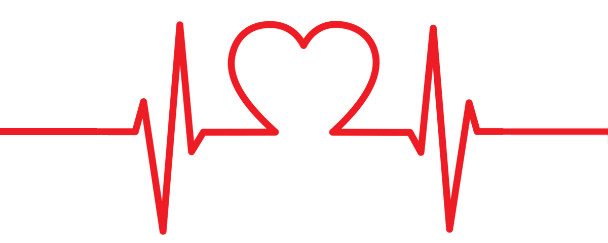 Heartbeat clipart heart middle. Your rate the foundation