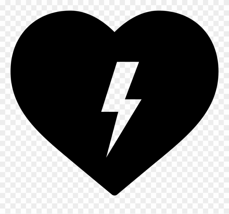 Heartbeat clipart heart middle. Aed icon png download