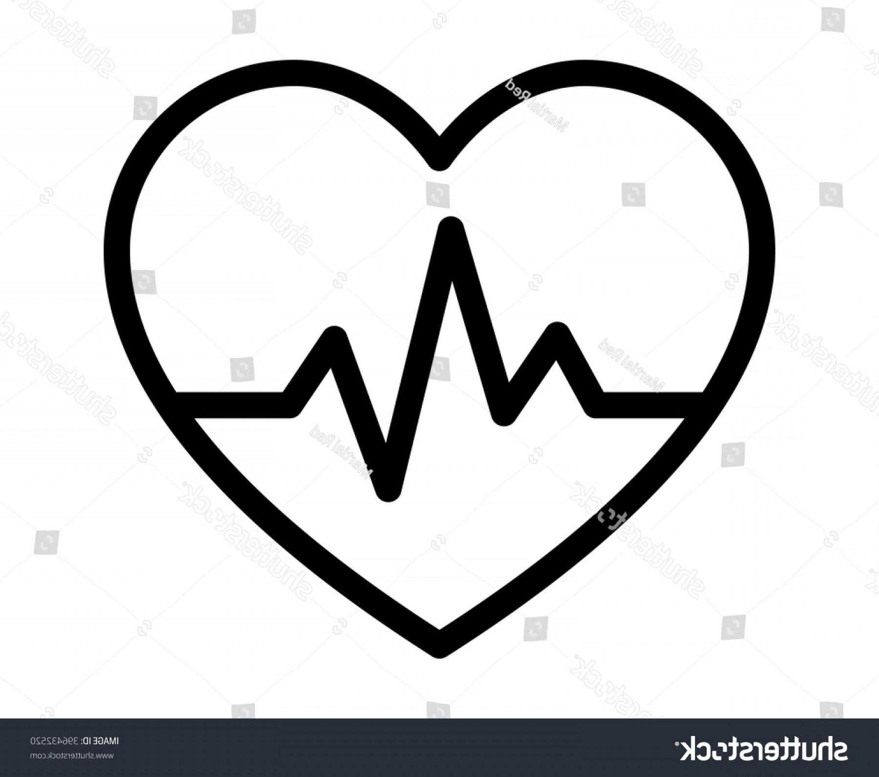 Beat pulse line art. Heartbeat clipart heart middle