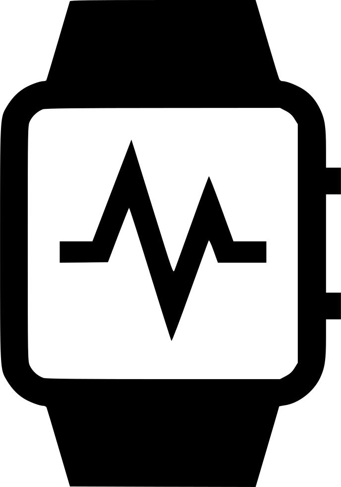 Heartbeat clipart heart monitor line. Watch activity cardio wrist