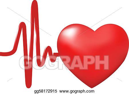 Vector art beats drawing. Heartbeat clipart heart rhythm