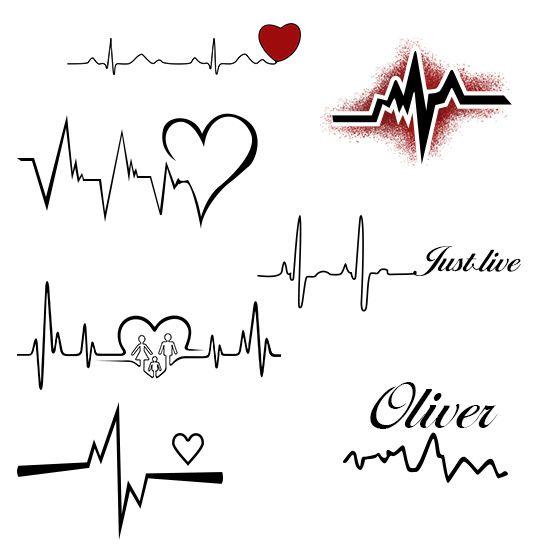 Heartbeat clipart heart tattoo design. Pin on tattoos