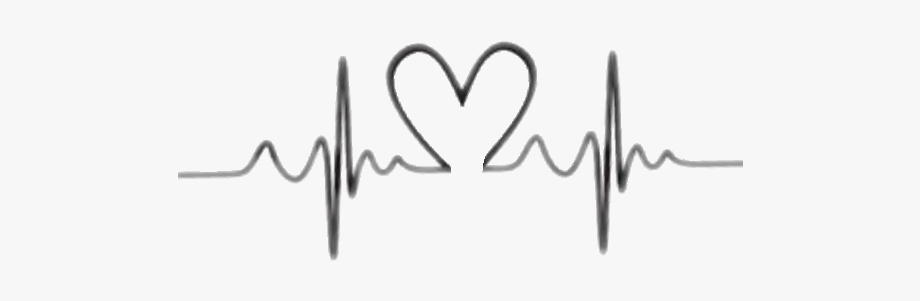 Sticker pulse with designs. Heartbeat clipart heart tattoo design