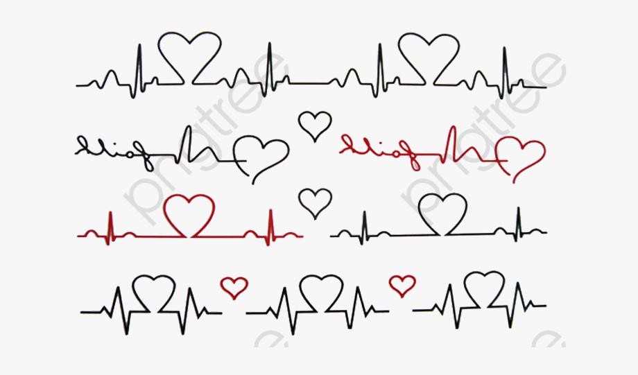 Line transparent . Heartbeat clipart heart tattoo design