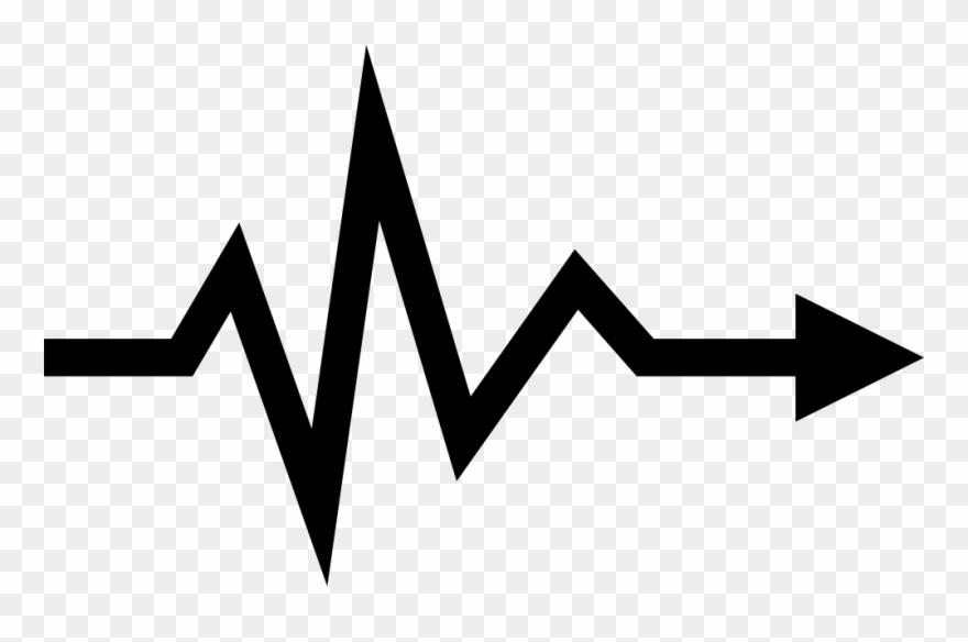 Heartbeat clipart lifeline. Arrow symbol icon free