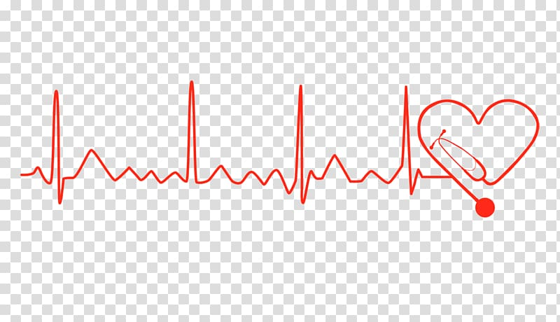Red illustration logo brand. Heartbeat clipart lifeline