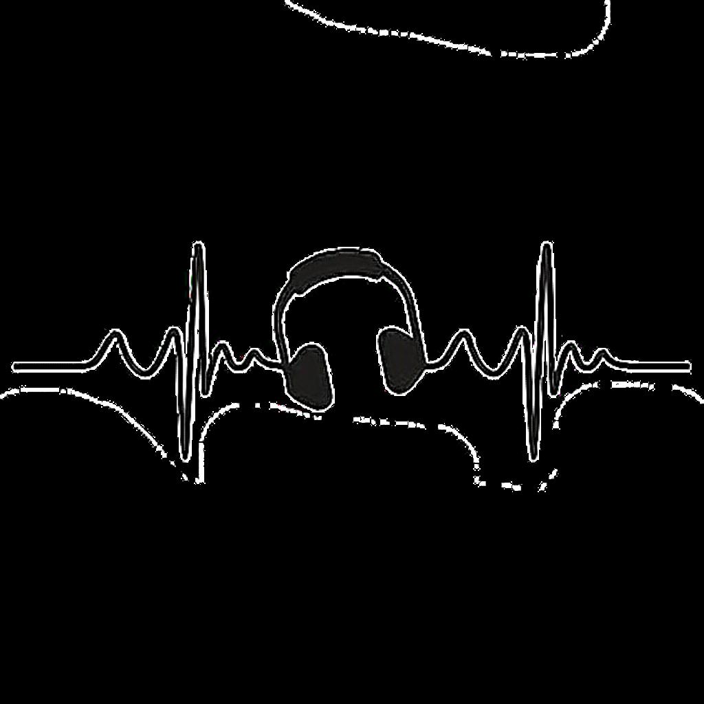 Heartbeat clipart line. Musicbeat aesthetic freetoedit