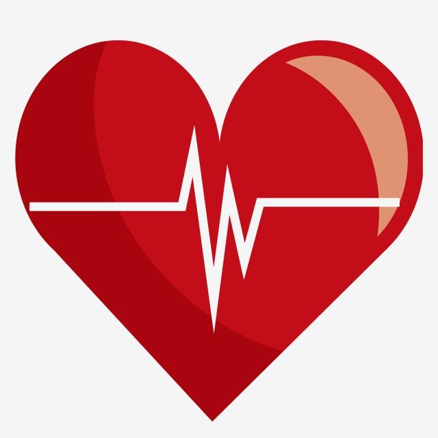 Fierce decorative element . Heartbeat clipart logo