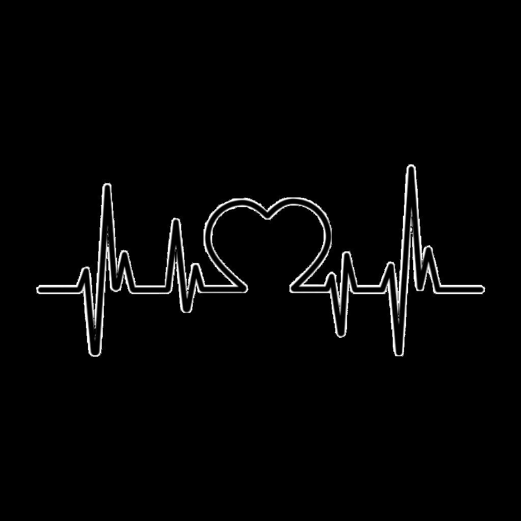 Heartbeat clipart love. Figure heart sticker picsart