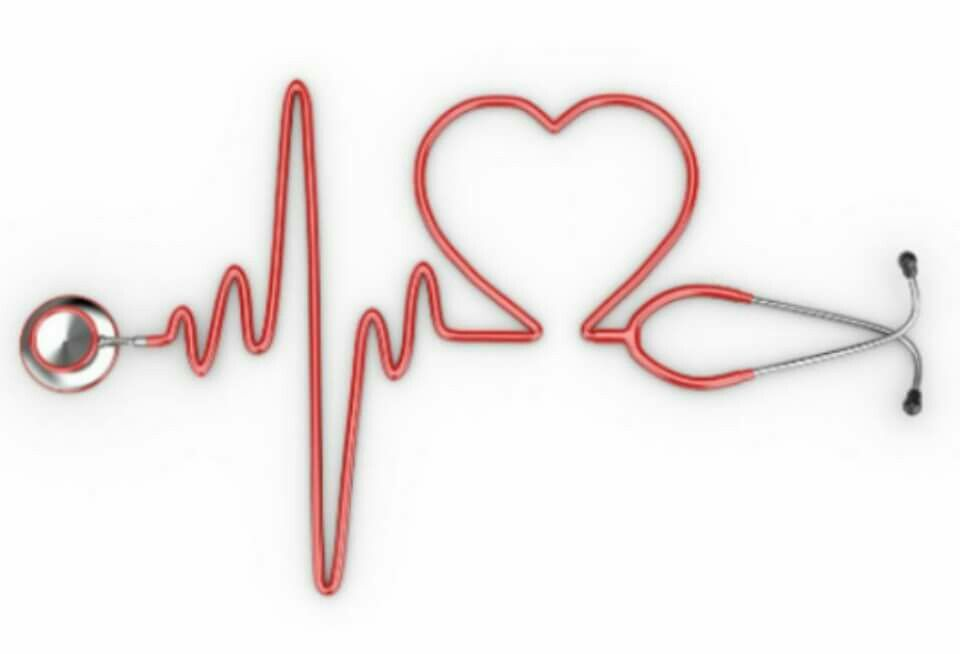 Profession with stethoscope medicine. Heartbeat clipart medical assistant