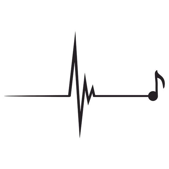 Note pulse notes . Heartbeat clipart music