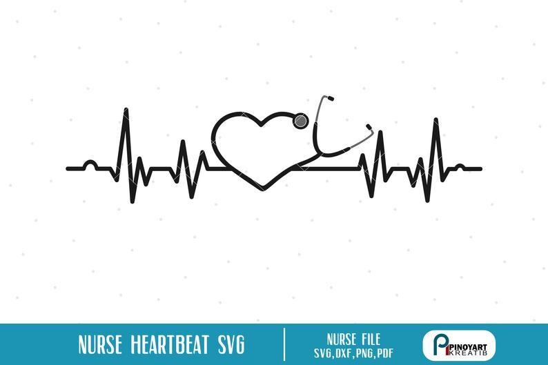 Svg ekg ecg stethoscope. Heartbeat clipart nurse