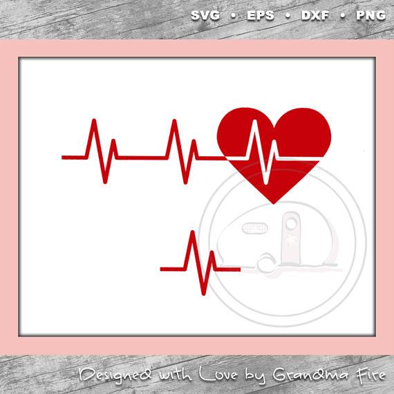 Heartbeat clipart poor health. Svg line art